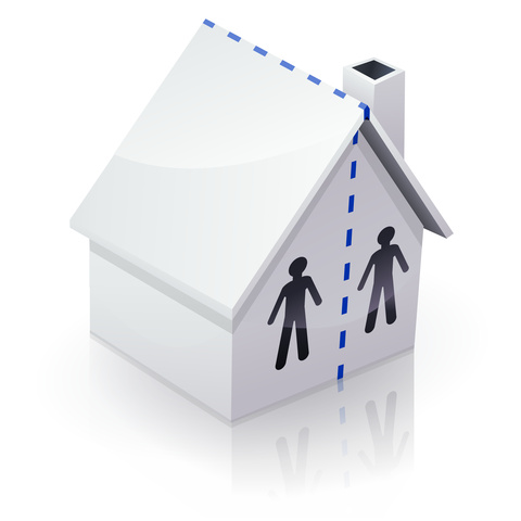 Marital property division can include the home and other property