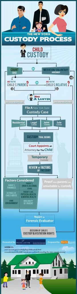 The New york Custody Process (Infographic)