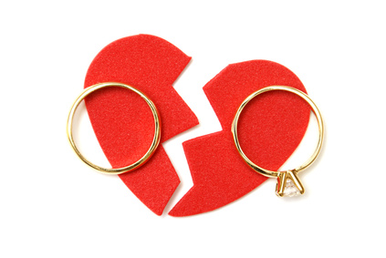 Expensive Rings Over A Broken Heart Indicating High Net Worth Divorce