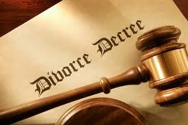 New York Divorce Decree Paperwork With Gavel
