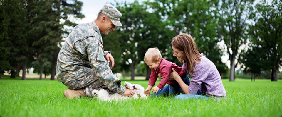 military divorce affecting family in the park